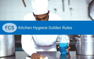 kitchen hygiene rules: chef clean as you go